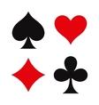 Card suit symbols vector image