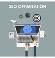 SEO optimization programming process vector image