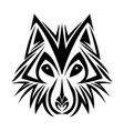 wolf tribal tatto animal creativity design vector image