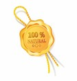 100 natural golden label Stock Photos vector image vector image