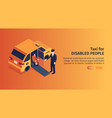 accessible taxi isometric banner vector image vector image