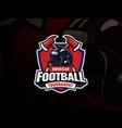 american football sport logo design vector image vector image