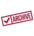 Archive rubber stamp vector image