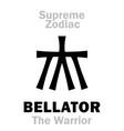 astrology supreme zodiac bellator the warrior vector image vector image