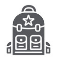 backpack glyph icon camping and travel bag sign vector image vector image