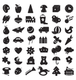black silhouettes toys vector image vector image