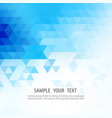blue grid mosaic background creative design vector image vector image