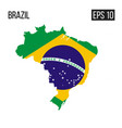 brazil map border with flag eps10 vector image