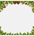 christmas banner with christmas toys and vector image vector image