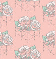 colorful seamless pattern with roses with vector image