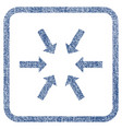 compact arrows fabric textured icon vector image vector image