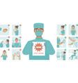 coronavirus covid-19 protection tips vector image vector image