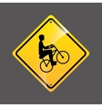 cyclist person sign sport extreme design vector image vector image