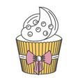 delicious cupcake bakery icon vector image vector image