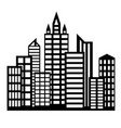 flat icon buildings vector image vector image