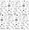 football doodle set vector image vector image