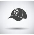 Football fans cap icon vector image vector image