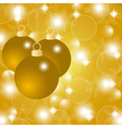 Gold Christmas background with Christmas balls vector image vector image