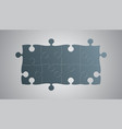 grey pieces puzzle signboard story board vector image