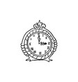 halloween doodle clock element isolated vector image vector image