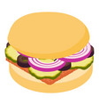 hamburger icon isometric 3d style vector image vector image