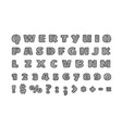 hand drawn style font letters and digits clipart vector image