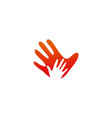 hand palm logo icon template vector image vector image