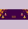 happy diwali festival banner with diya decoration