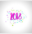 happy new year numbers vector image vector image