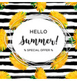 hello summer advertising background summer vector image vector image