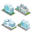 Hospital Isometric Icons Set vector image vector image