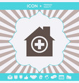 hospital symbol icon graphic elements for your vector image
