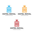 hotel royal logo template image vector image