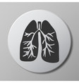 human lungs grey icon vector image vector image