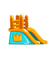 inflatable slide side view amusement park bouncy vector image