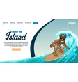 landing page design surfing tropical life vector image