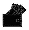 Leather wallet symbol