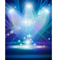 Magic Spotlights with Blue rays and glowing effect vector image vector image