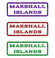 marshall islands watermark stamp vector image vector image