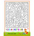 math education for kids logic puzzle game find vector image vector image