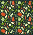 modern seamless pattern with hand drawn green vector image vector image
