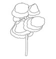 nature tree cartoon vector image vector image