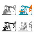 oil pumpjack icon in cartoon style isolated on vector image vector image