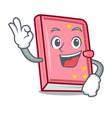 okay diary character cartoon style vector image vector image