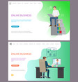 online business leader of company chatting on pc vector image vector image