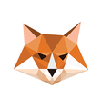 Origami fox portrait vector image