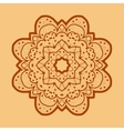 Ornamental outline mandala square flyer card vector image