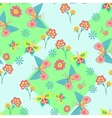 pattern with vivid flowers and butterflies vector image vector image