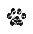 paw print of dog icon for your design vector image