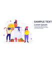people near christmas drink mulled wine holding vector image vector image